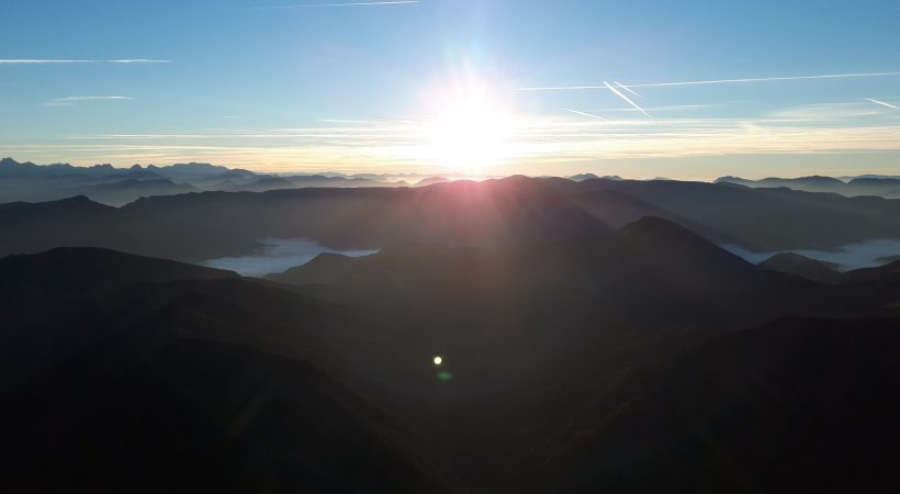 """The """"Trois Becs"""" (3 peaks) at sunrise"""