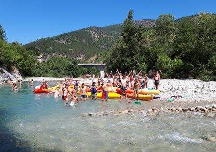 Canoë-kayak and Rafting with EVA Location
